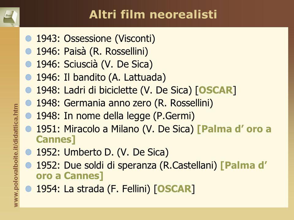 Altri film neorealisti