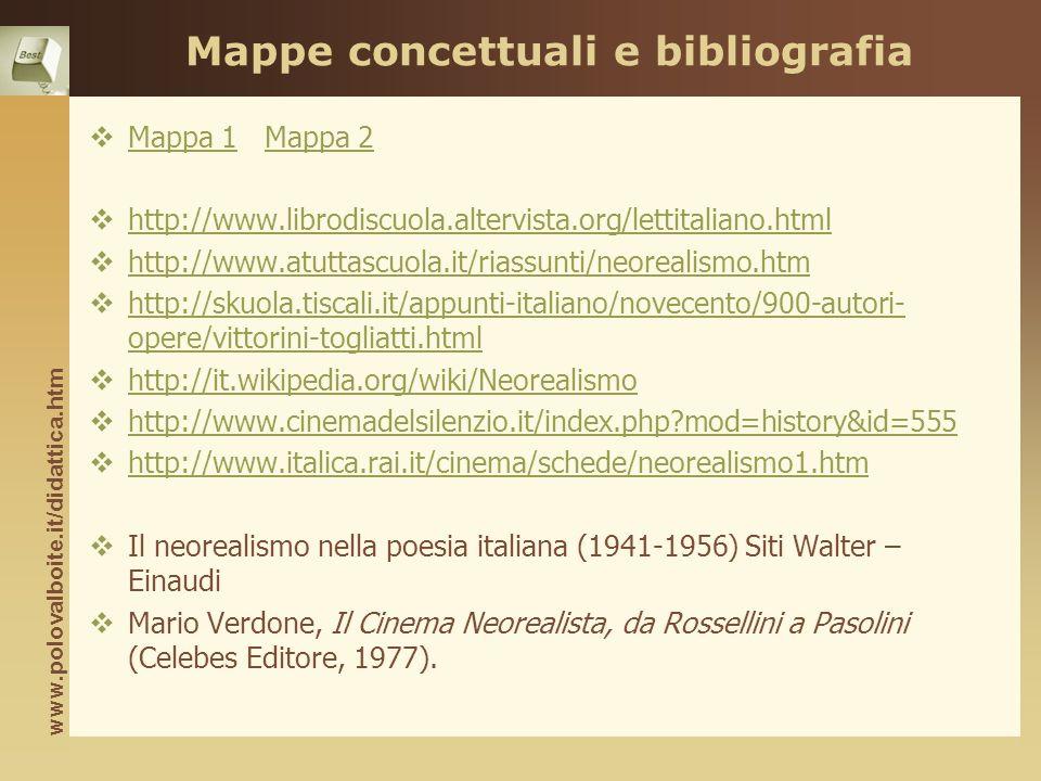 Mappe concettuali e bibliografia