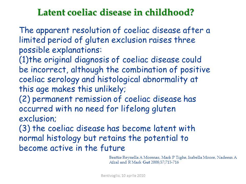 Latent coeliac disease in childhood