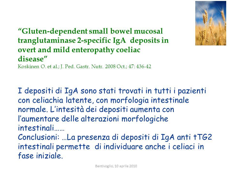 Gluten-dependent small bowel mucosal tranglutaminase 2-specific IgA deposits in overt and mild enteropathy coeliac disease