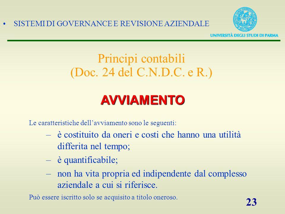 Principi contabili (Doc. 24 del C.N.D.C. e R.)