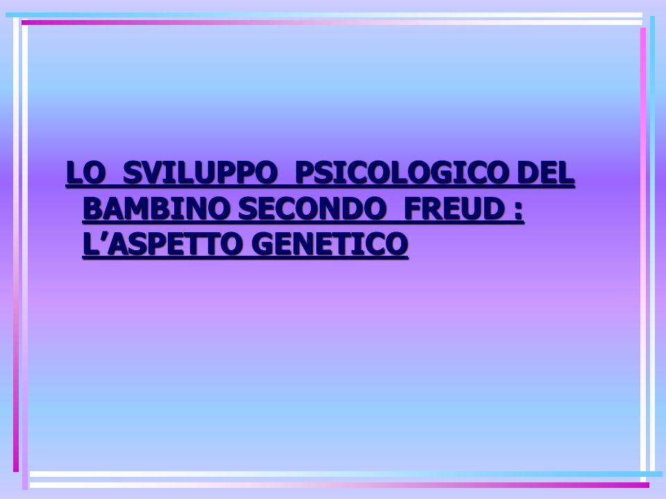 LO SVILUPPO PSICOLOGICO DEL BAMBINO SECONDO FREUD : L'ASPETTO GENETICO