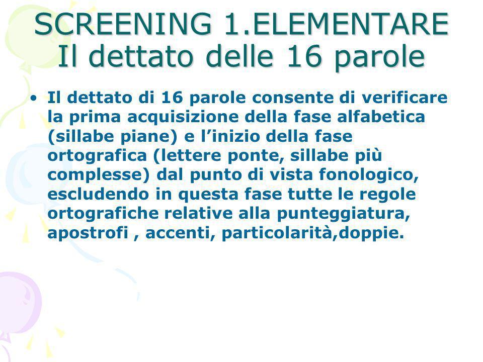 Screening 1elementare Il Dettato Delle 16 Parole Ppt Video Online