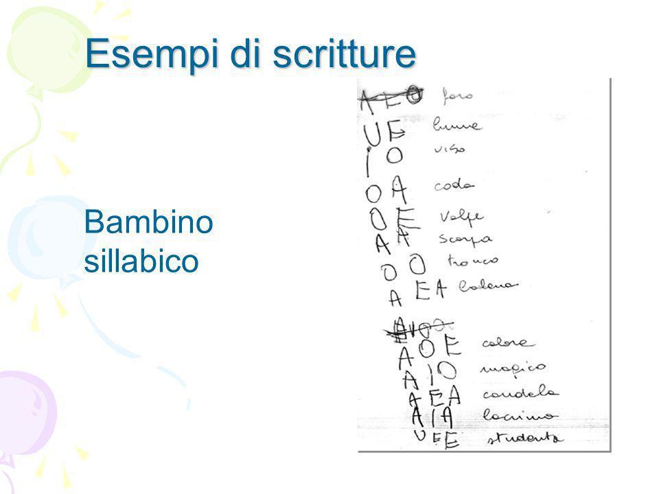 Esempi di scritture Bambino sillabico