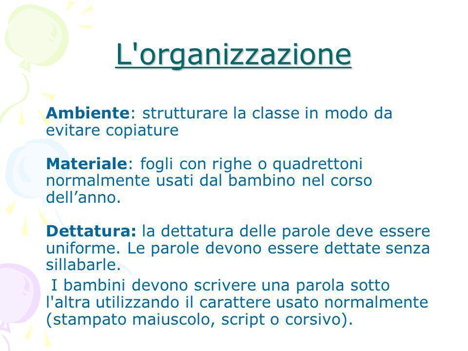 L organizzazione