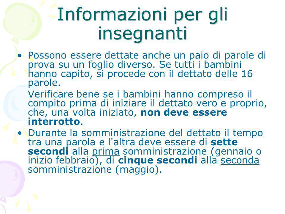 Informazioni per gli insegnanti