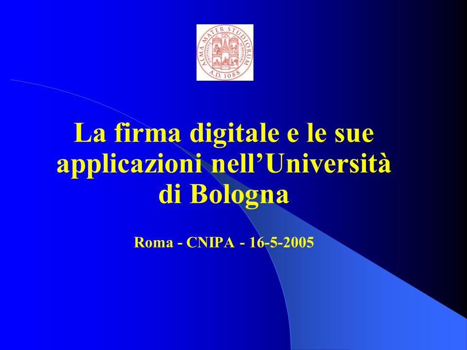 La firma digitale e le sue applicazioni nell'Università di Bologna