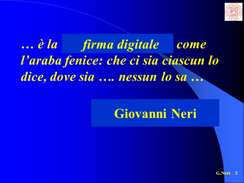 firma digitale Giovanni Neri
