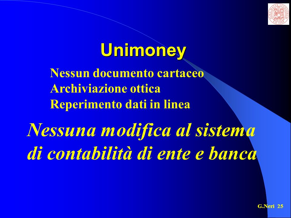 Nessuna modifica al sistema di contabilità di ente e banca