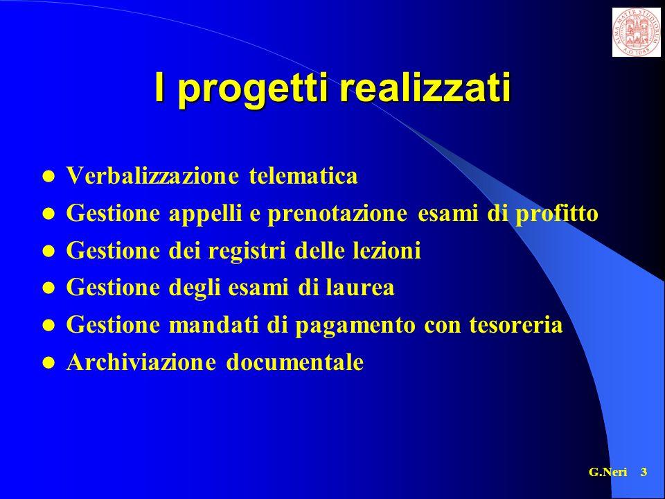 I progetti realizzati Verbalizzazione telematica