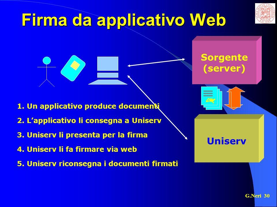 Firma da applicativo Web