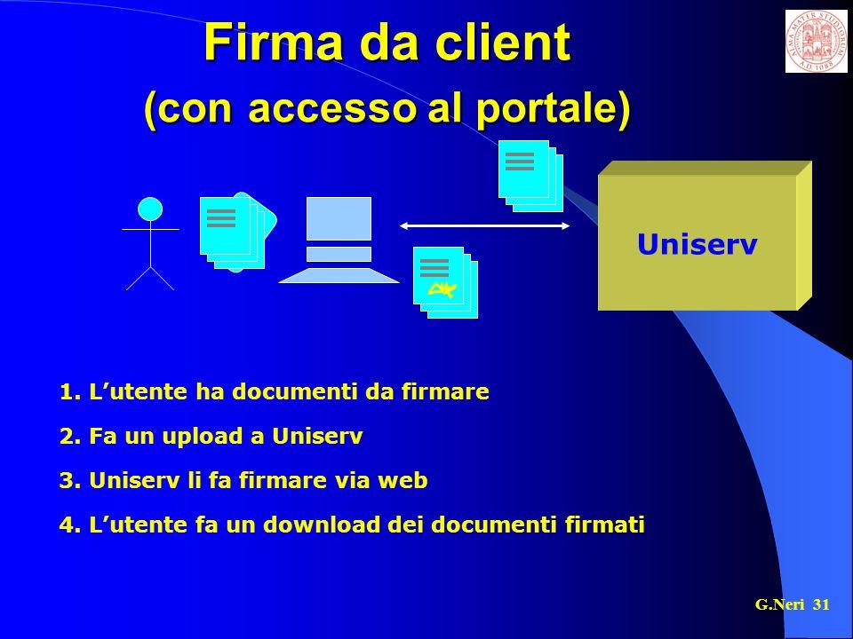 Firma da client (con accesso al portale)
