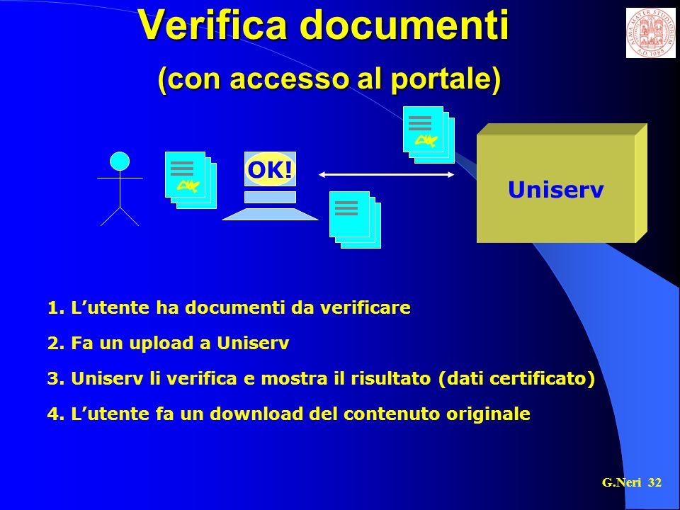 Verifica documenti (con accesso al portale)