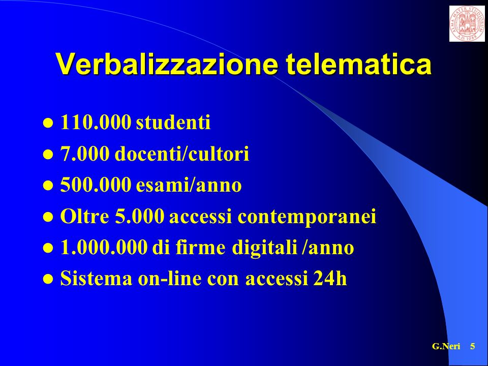Verbalizzazione telematica