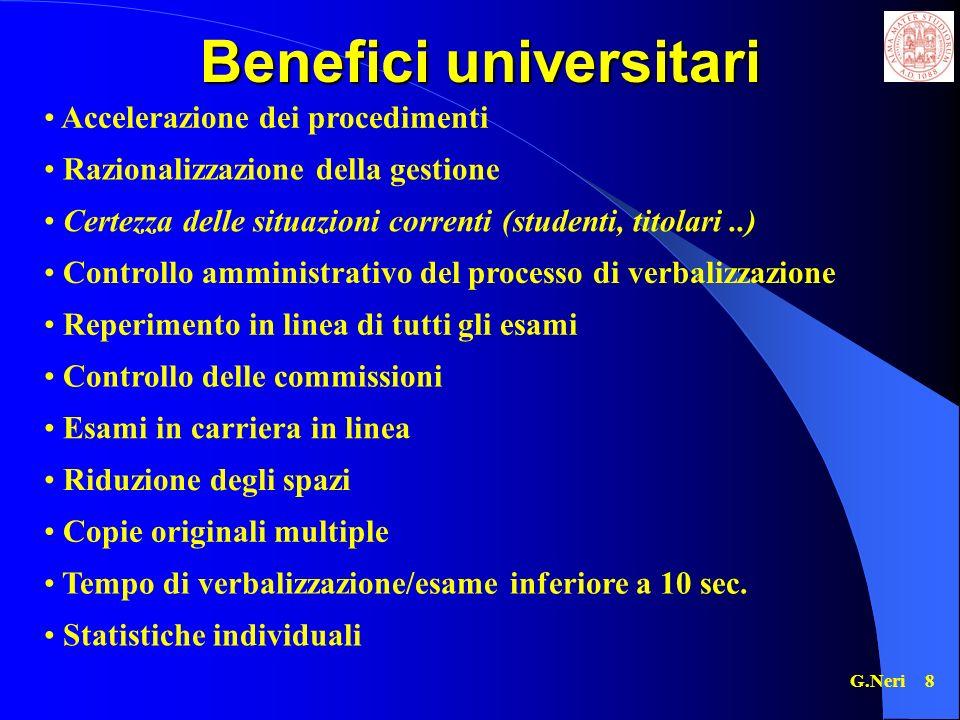 Benefici universitari