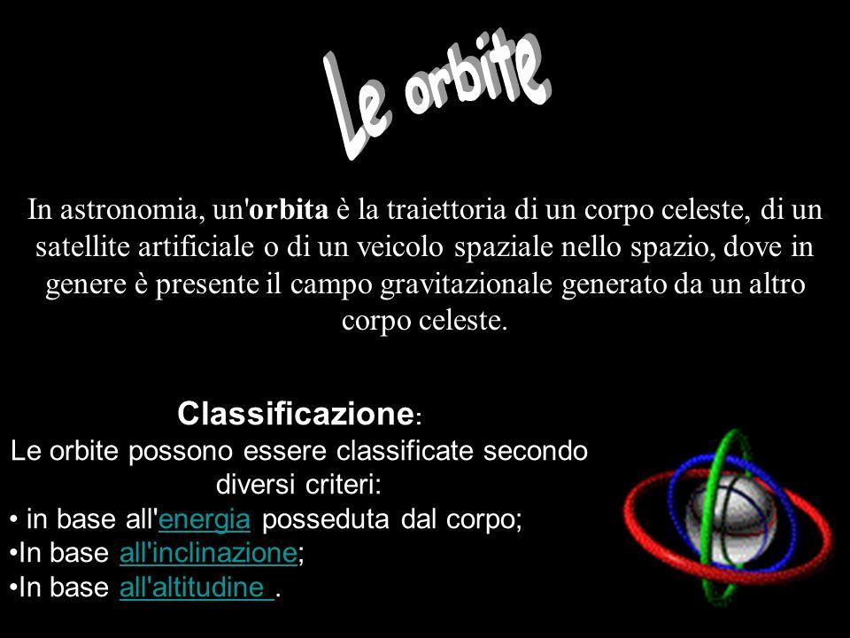 Le orbite possono essere classificate secondo diversi criteri:
