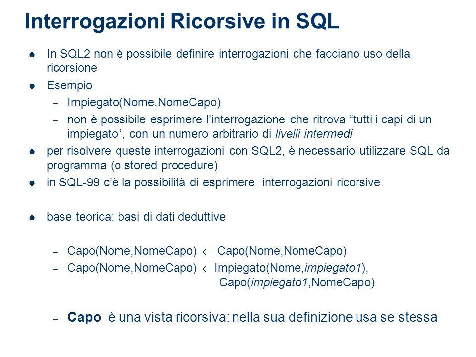 Interrogazioni Ricorsive in SQL