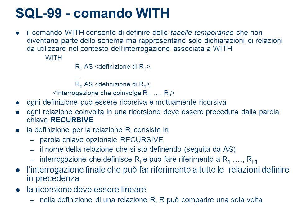 SQL-99 - comando WITH