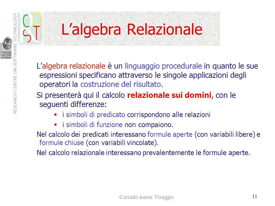 L'algebra Relazionale