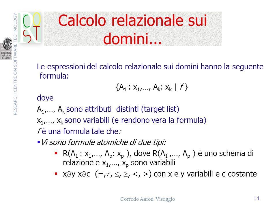Calcolo relazionale sui domini...
