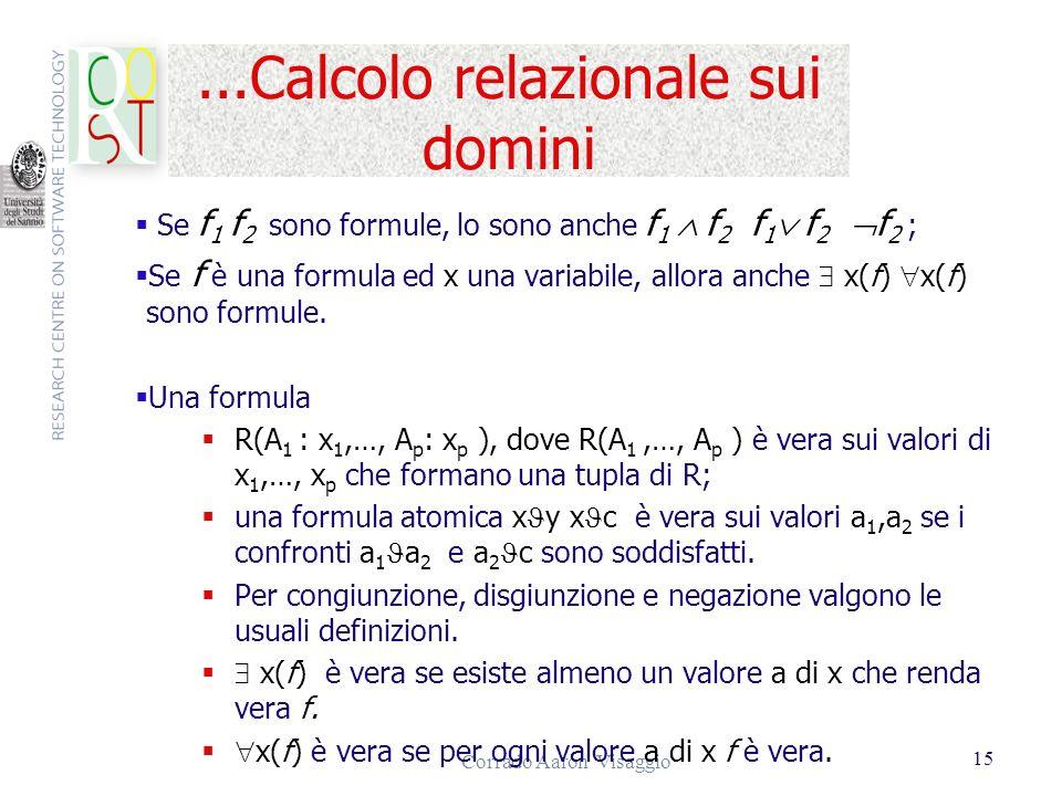 ...Calcolo relazionale sui domini