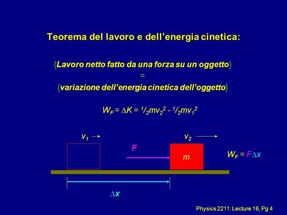 Teorema del lavoro e dell'energia cinetica: