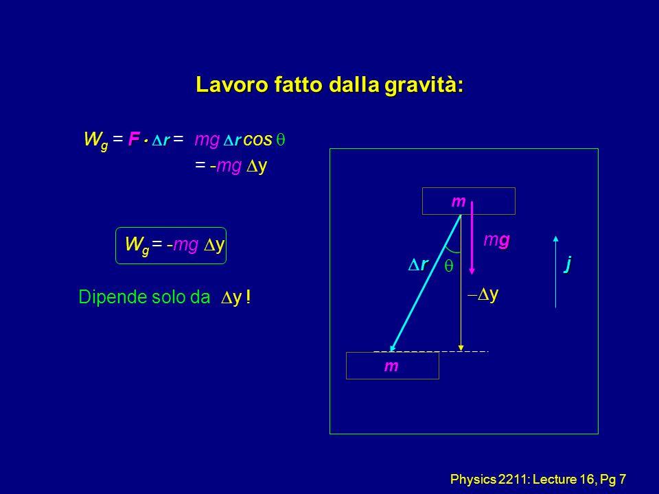 Lavoro fatto dalla gravità: