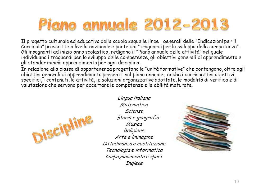 Piano annuale 2012-2013 Discipline