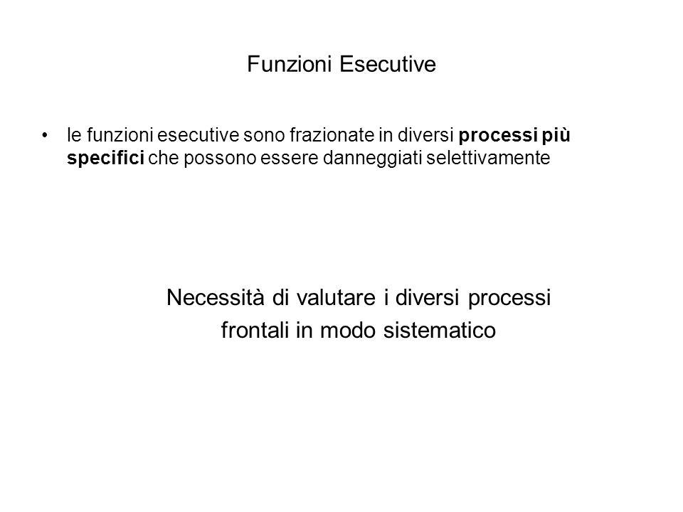 Necessità di valutare i diversi processi frontali in modo sistematico