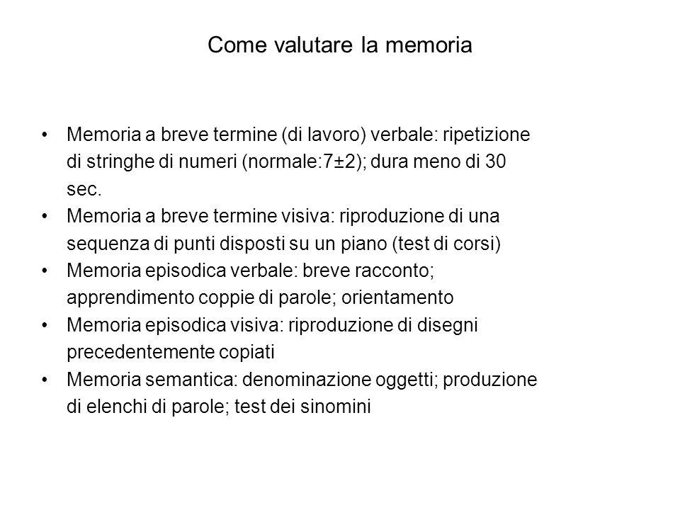 Come valutare la memoria