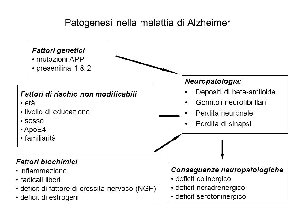 Patogenesi nella malattia di Alzheimer