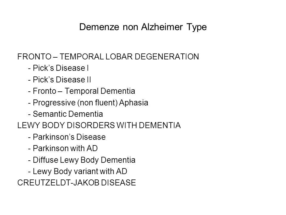 Demenze non Alzheimer Type