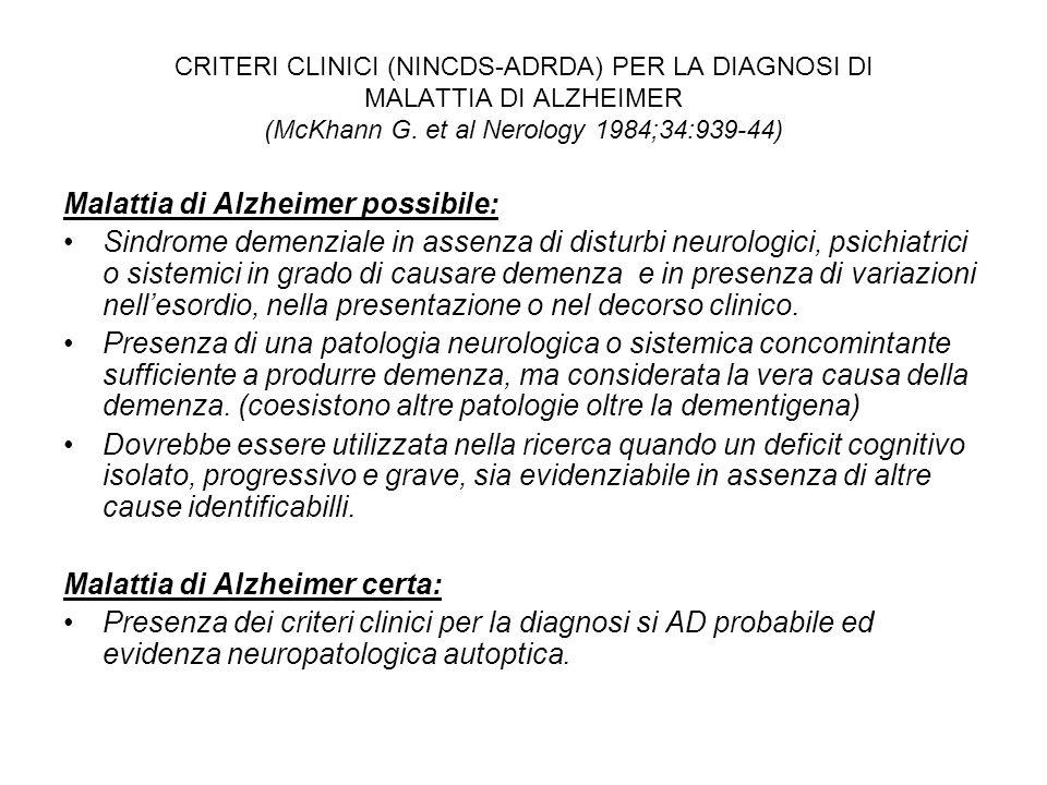 Malattia di Alzheimer possibile: