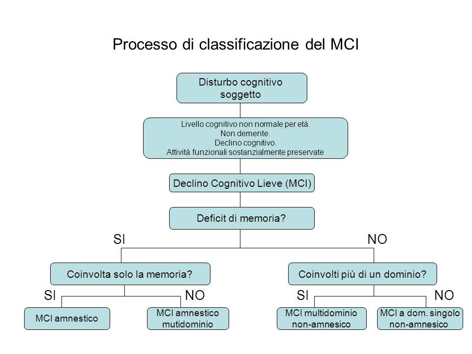 Processo di classificazione del MCI