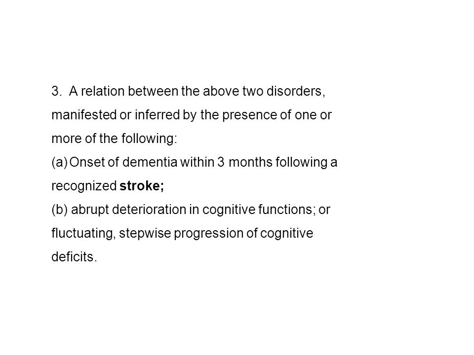 3. A relation between the above two disorders,