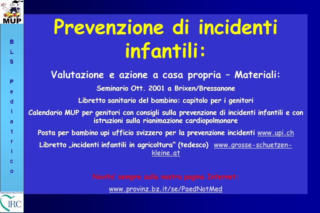 Prevenzione di incidenti infantili:
