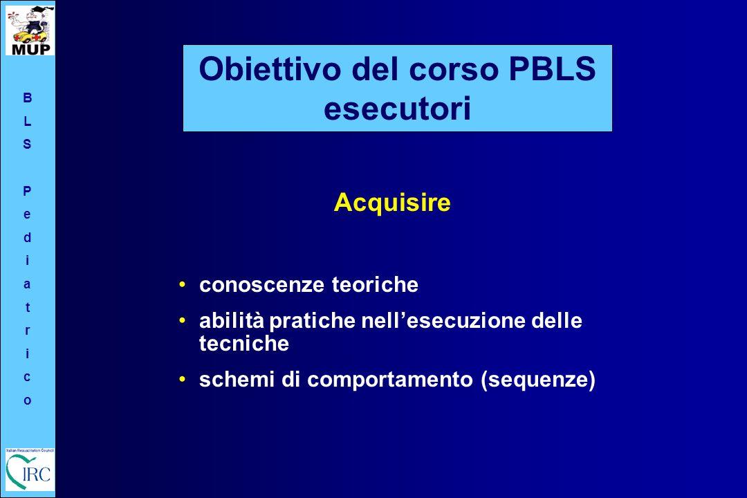 Obiettivo del corso PBLS esecutori