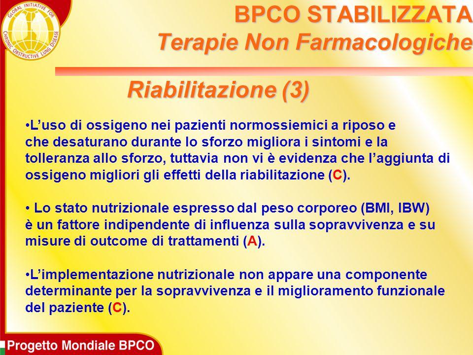 BPCO STABILIZZATA Terapie Non Farmacologiche
