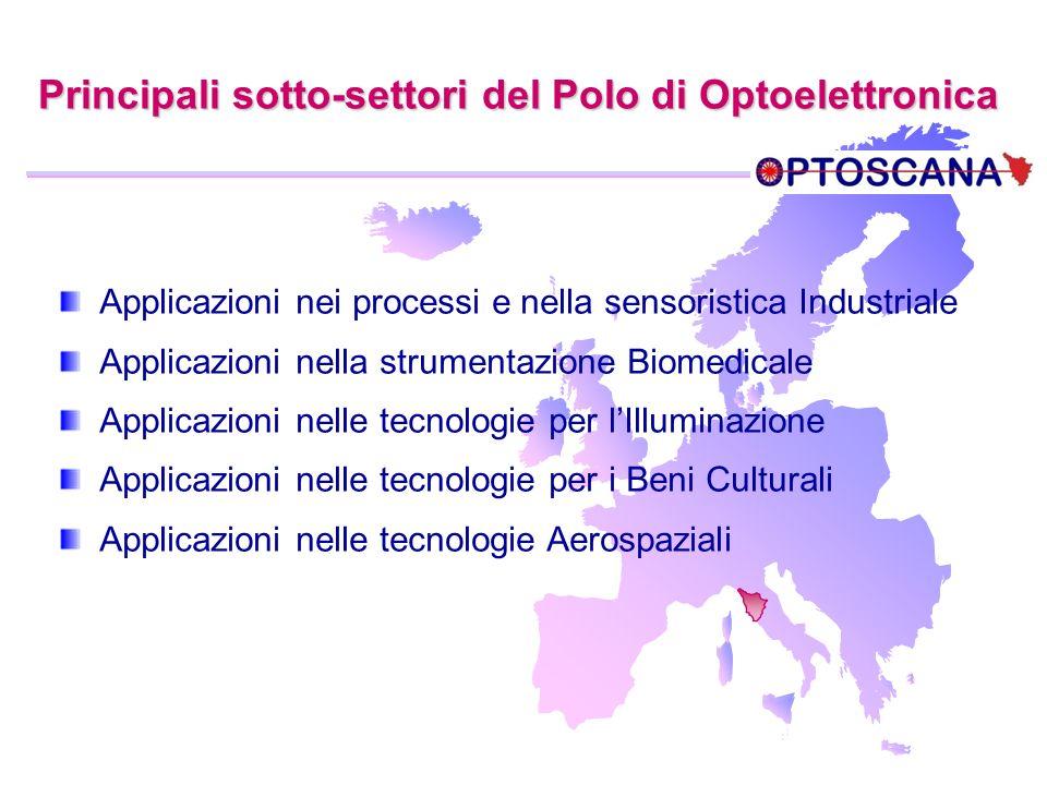 Principali sotto-settori del Polo di Optoelettronica