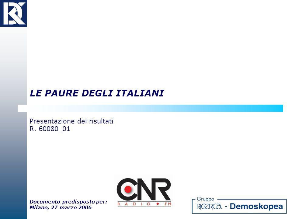 LE PAURE DEGLI ITALIANI