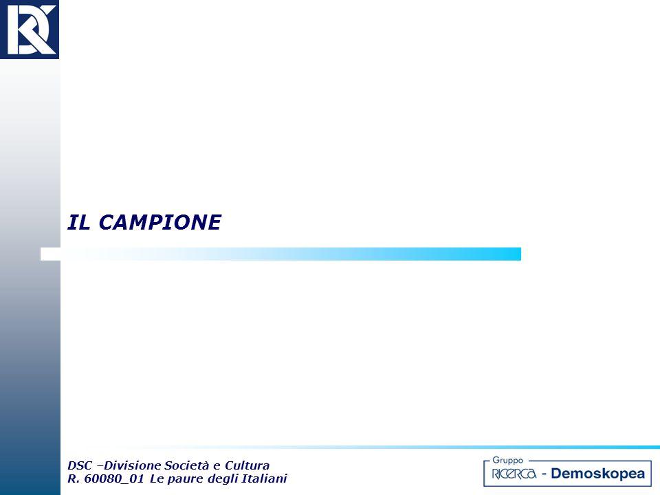 IL CAMPIONE DSC –Divisione Società e Cultura