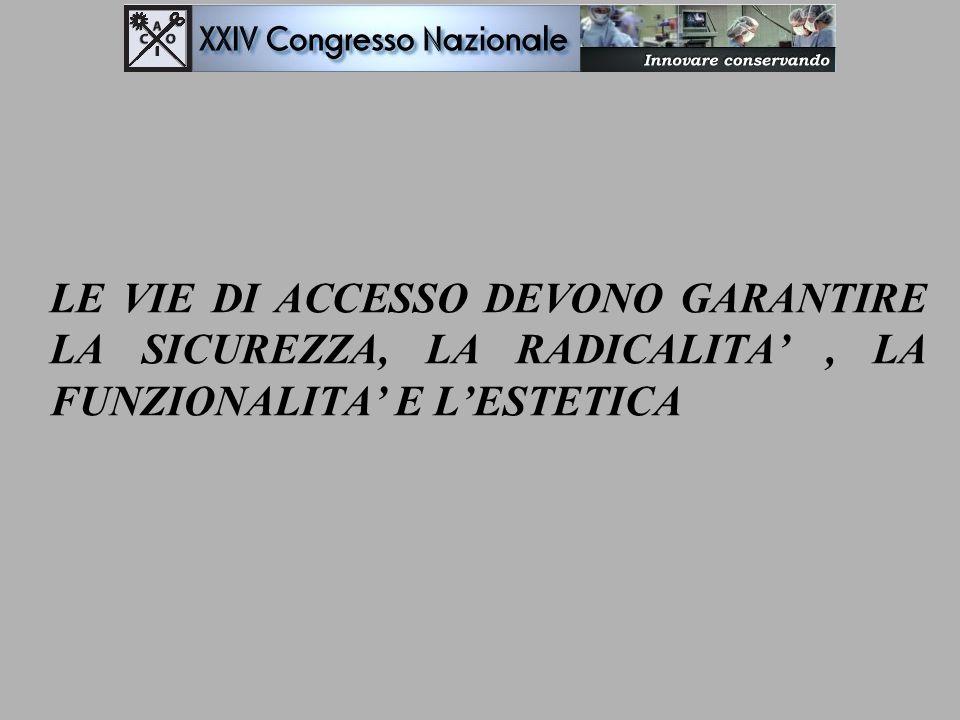 LE VIE DI ACCESSO DEVONO GARANTIRE LA SICUREZZA, LA RADICALITA' , LA FUNZIONALITA' E L'ESTETICA