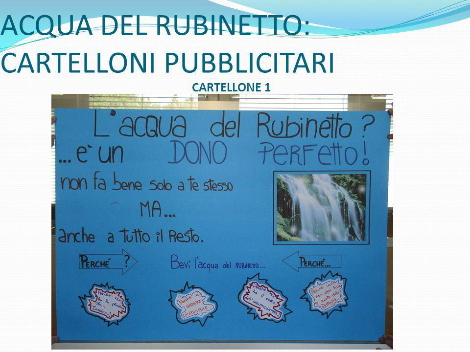 ACQUA DEL RUBINETTO: CARTELLONI PUBBLICITARI