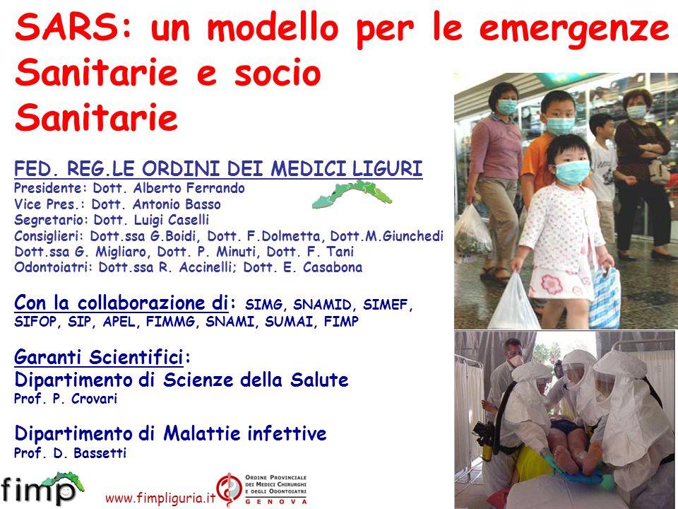 SARS: un modello per le emergenze Sanitarie e socio Sanitarie