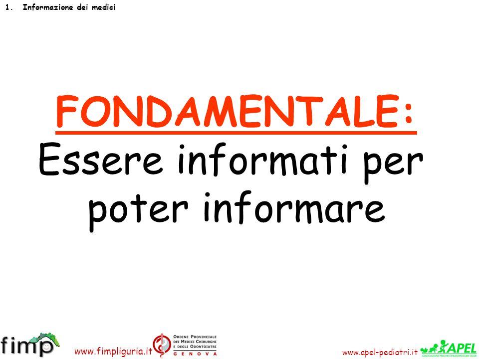 FONDAMENTALE: Essere informati per poter informare