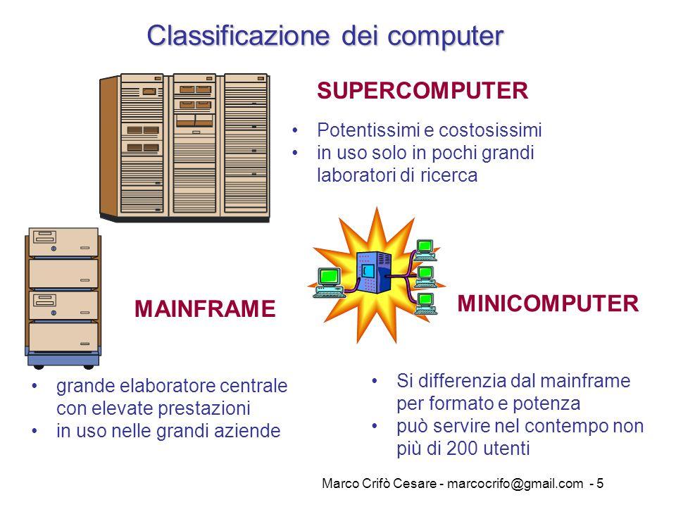 Classificazione dei computer