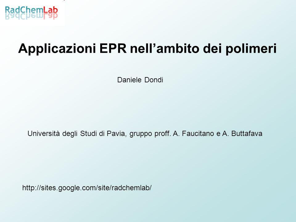 Applicazioni EPR nell'ambito dei polimeri