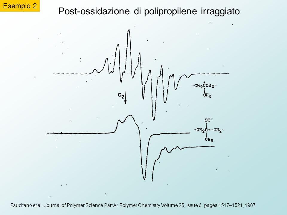 Post-ossidazione di polipropilene irraggiato