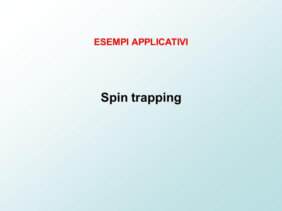 ESEMPI APPLICATIVI Spin trapping