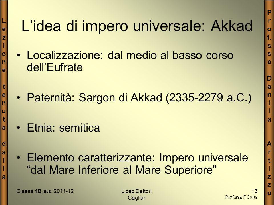 L'idea di impero universale: Akkad